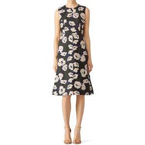 Marni Floral Whisper Print Olive Green Dress